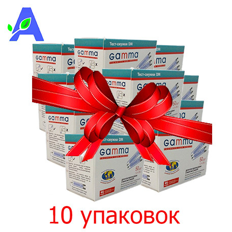 Тест полоски Гамма ДМ (Gamma DM) 500 штук для глюкометров Gamma Diamond и Gamma Diamond Prima
