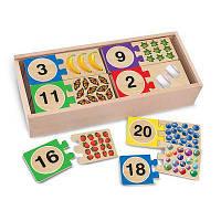 Развивающая игрушка Melissa&Doug Деревянные пазлы Счет (MD2542)