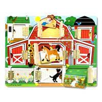Развивающая игрушка Melissa&Doug Доска с окошками Ферма (MD14592)