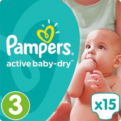 Подгузник Pampers Active Baby-Dry Midi (4-9 кг), 15шт (4015400583523)