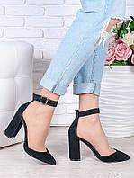Туфли Bogemiya черная замша 6394-28, фото 1