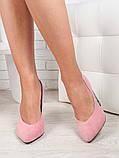 Туфли на каблуке пудра блестки 6470-28, фото 2