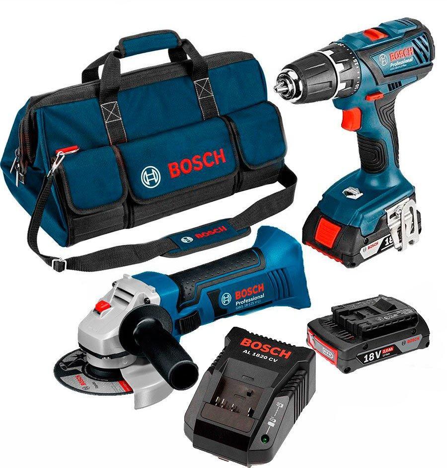 Набор Bosch Professional GSR 18 V-EC + GWS 18-125 V-Li + з/у AL 1880 CV + 2 x акб GBA 18V 5 (0615990G12)