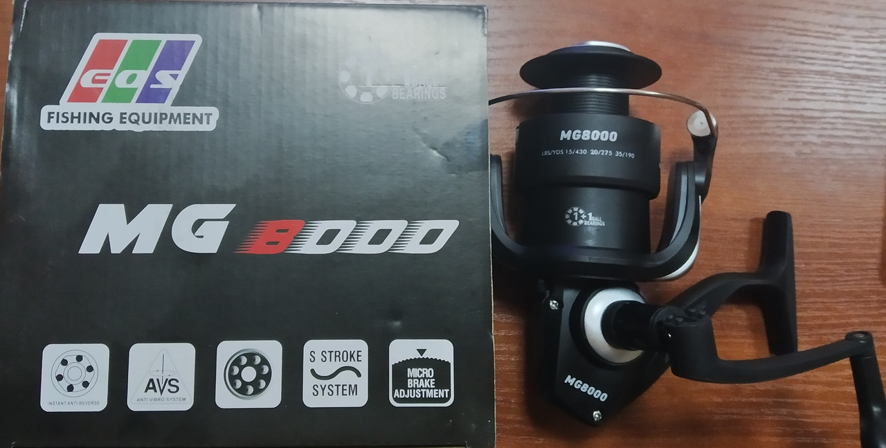 Катушка безынерционная EOS MG-8000, 1+1bb