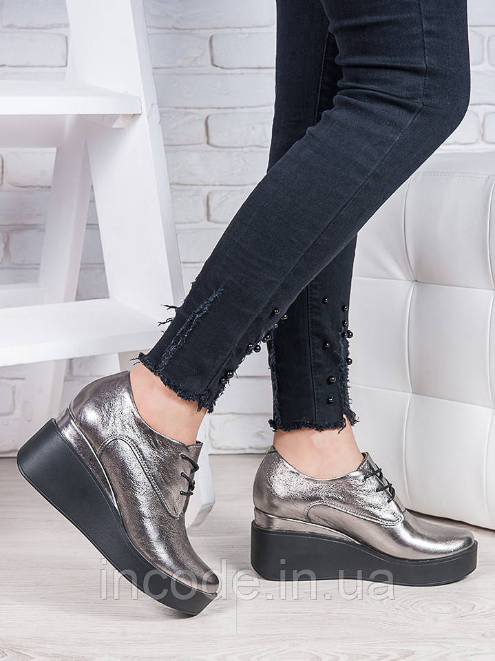 Туфли кожаные на платформе 6850-28