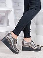 Туфли кожаные на платформе 6850-28, фото 1