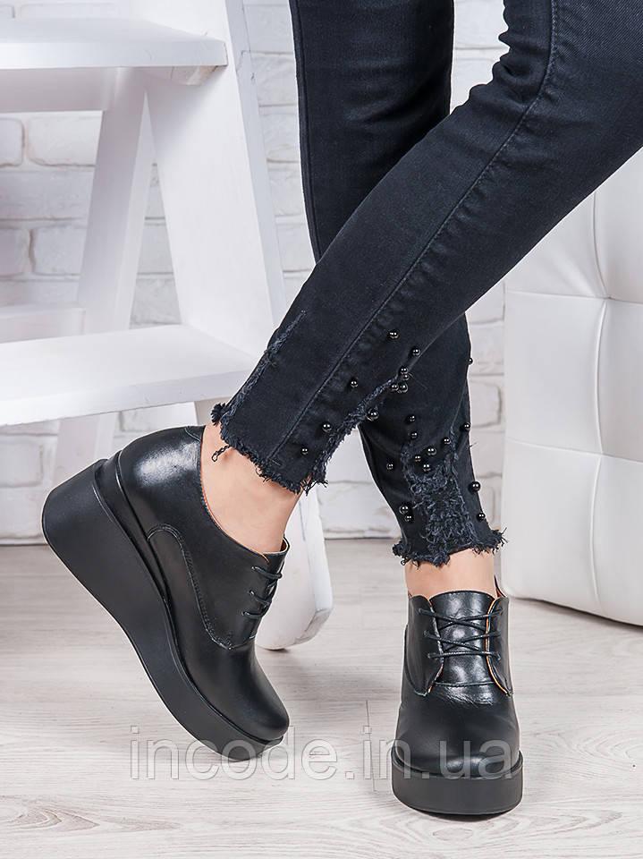 Туфли черные на платформе 6867-28