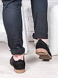 Мужские замшевые черные туфли 6880-28, фото 3