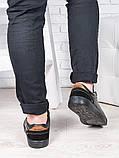 Мужские черные кеды 6884-28, фото 3
