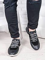 Мужские кроссовки кожа т. синий 6889-28, фото 1