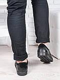 Мужские черные кожаные слипоны 6895-28, фото 3