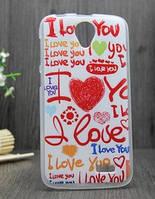 Силиконовый бампер чехол для Lenovo A388t с картинкой Love