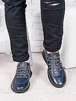 Мужские кожаные кроссовки 6909-28, фото 1
