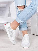 Кеды белые летние Ариана 6915-28, фото 1