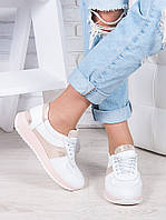 Кроссовки кожа белый амарант Лола 6916-28, фото 1