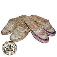 Лапти плетёные из рогозы (размер 39)