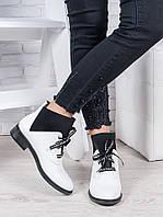 Ботинки кожаные Элиза белые 6949-28, фото 1