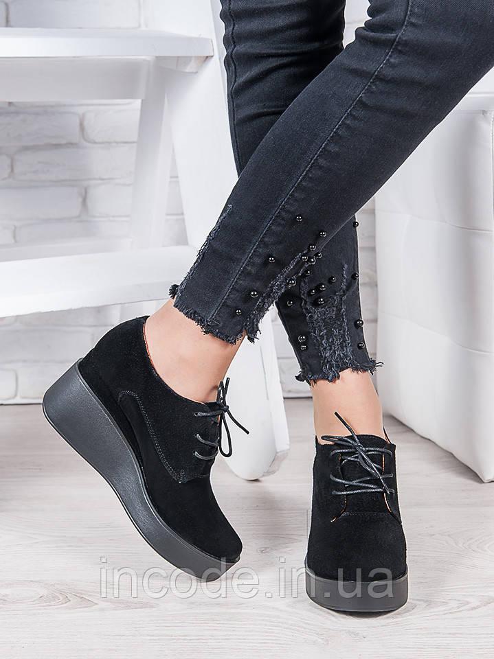 Туфли замшевые на платформе 6962-28