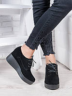 Туфли замшевые на платформе 6962-28, фото 1