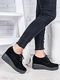 Туфли замшевые на платформе 6962-28, фото 2