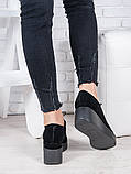 Туфли замшевые на платформе 6962-28, фото 4