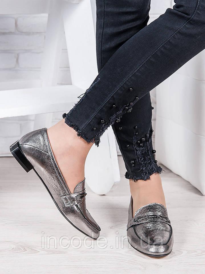 Туфли кожаные сатин Пегги 6966-28
