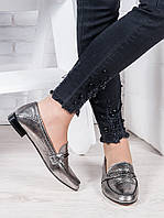 Туфли кожаные сатин Пегги 6966-28, фото 1