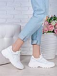 Кроссовки кожа в стиле Balenc!aga белые 6994-28, фото 3