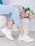 Кроссовки кожа в стиле Balenc!aga белые 6994-28, фото 4