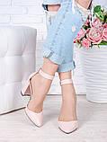 Туфли Bogemiya пудра кожа 7009-28, фото 4