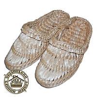 Лапти плетёные из рогозы (размер 45)