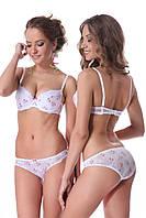 Комплект бюстгальтер push up и трусики слип Jasmine 70E/S Бело-розовый (33697-19921-575)
