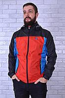 Ветровка мужская 1306-1 L Черно-красный - 158825