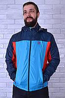 Ветровка реплика Adidas 1306-2 3XL Синий с голубым - 158824