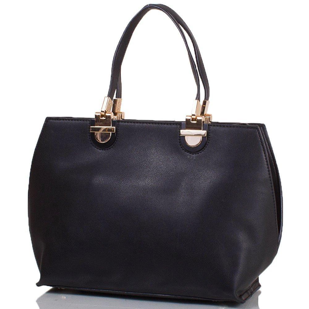 Женская сумка из кожзаменителя ANNA&LI TU14469 29х22.5х13 см Black