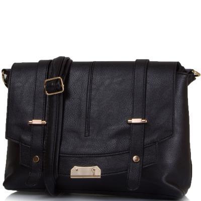 Женская сумка из качественного кожзаменителя ETERNO Черная (ETK0109-2)