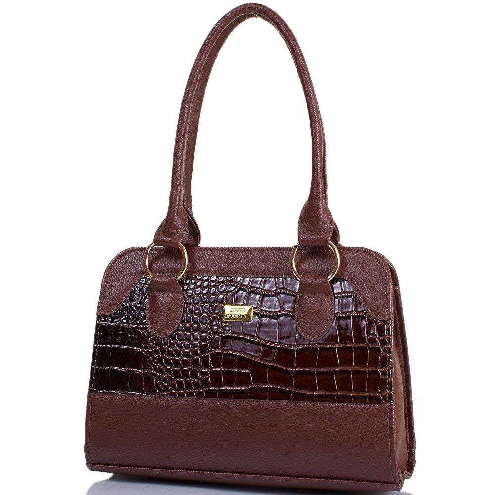 Женская сумка из качественного кожзаменителя ETERNO Коричневая (ETMS35319-10)