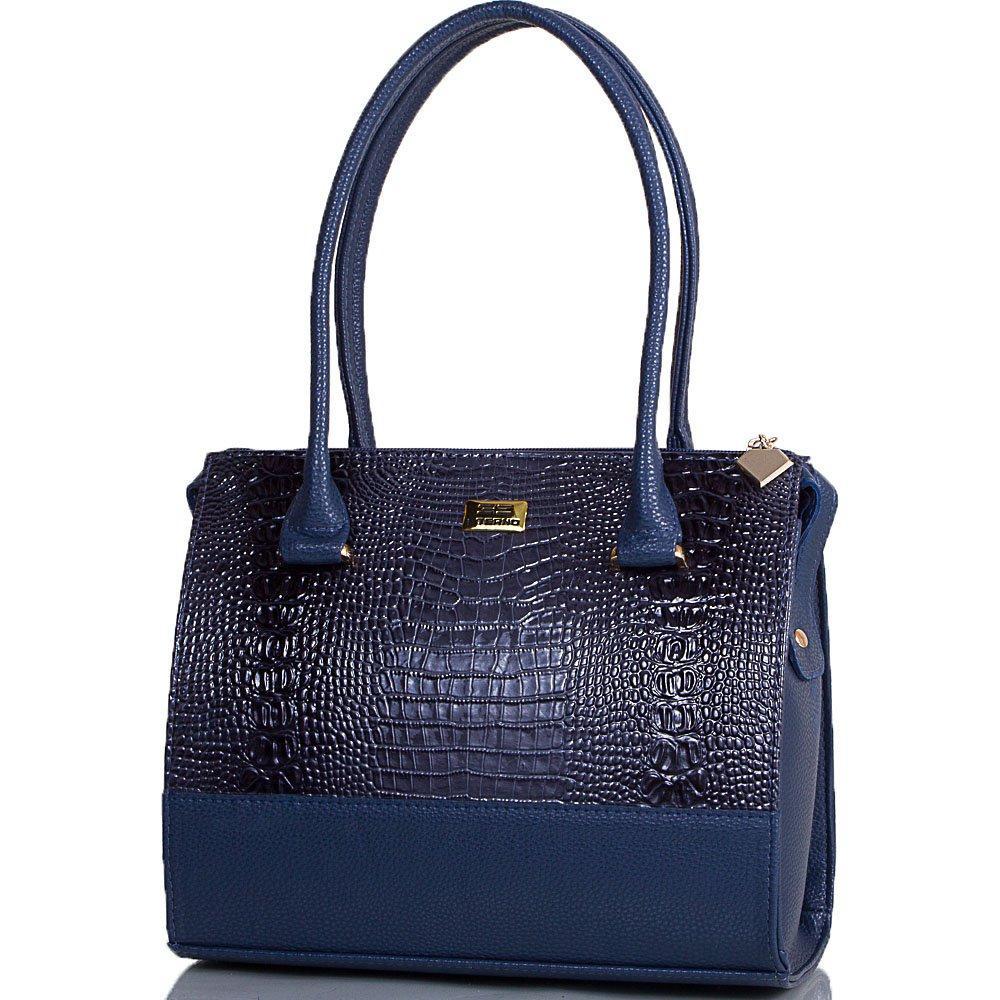 Женская сумка из качественного кожзаменителя ETERNO Синяя (ETMS35321-6)