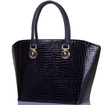 Женская сумка из качественного кожзаменителя ETERNO Черная (ETB16-10-6)