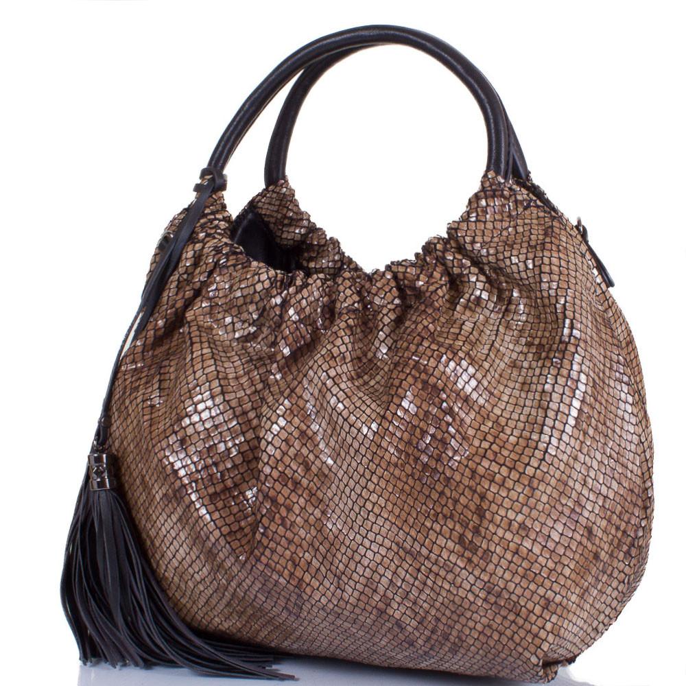 Женская сумка из качественного кожезаменителя AMELIE GALANTI Коричневая (A981084-brown)
