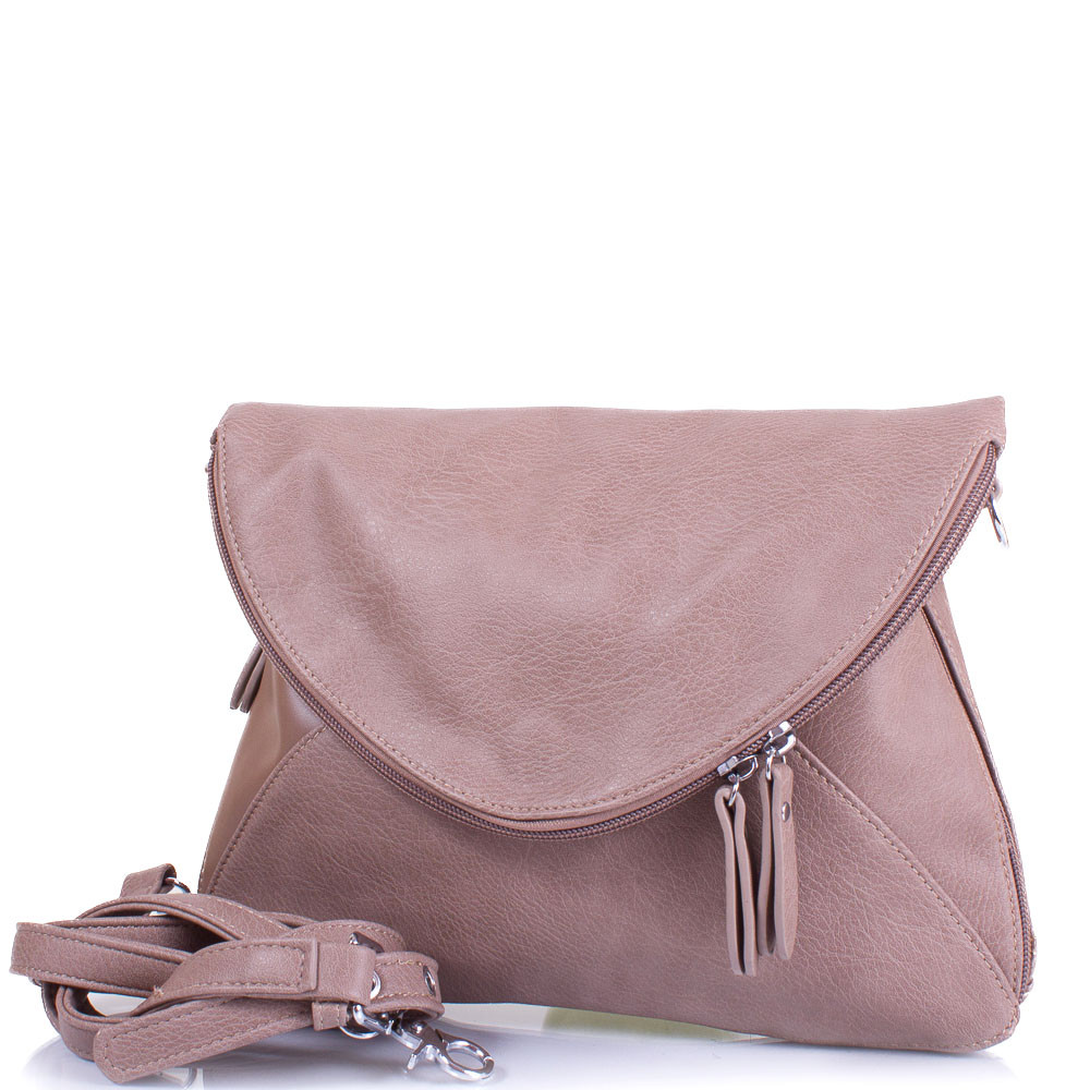 Женская сумка из качественного кожезаменителя AMELIE GALANTI Бежевая (A956701-taupe)