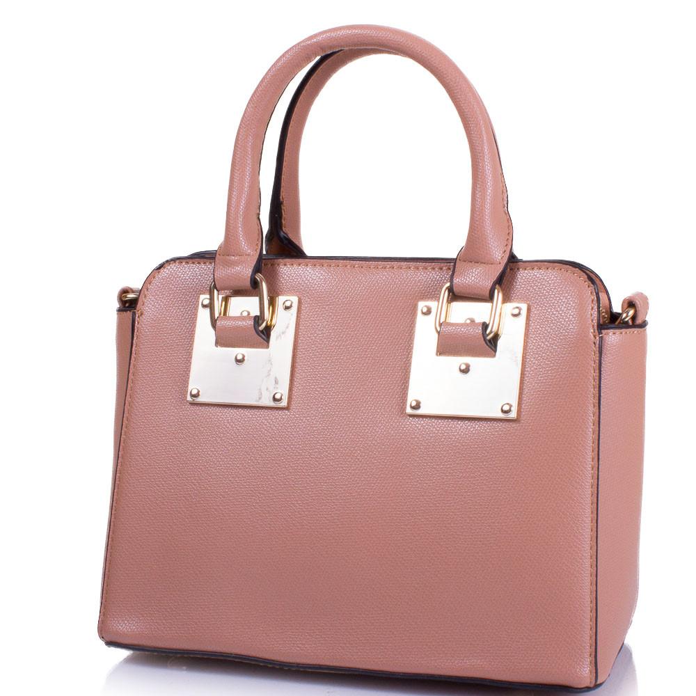 Женская сумка из качественного кожезаменителя AMELIE GALANTI Розовая (A981137-pink)