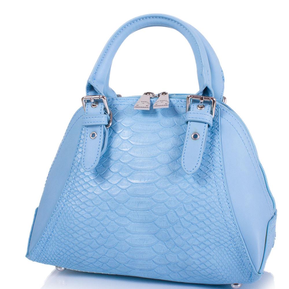 Женская сумка из качественного кожезаменителя AMELIE GALANTI Голубая (A1411046-blue)