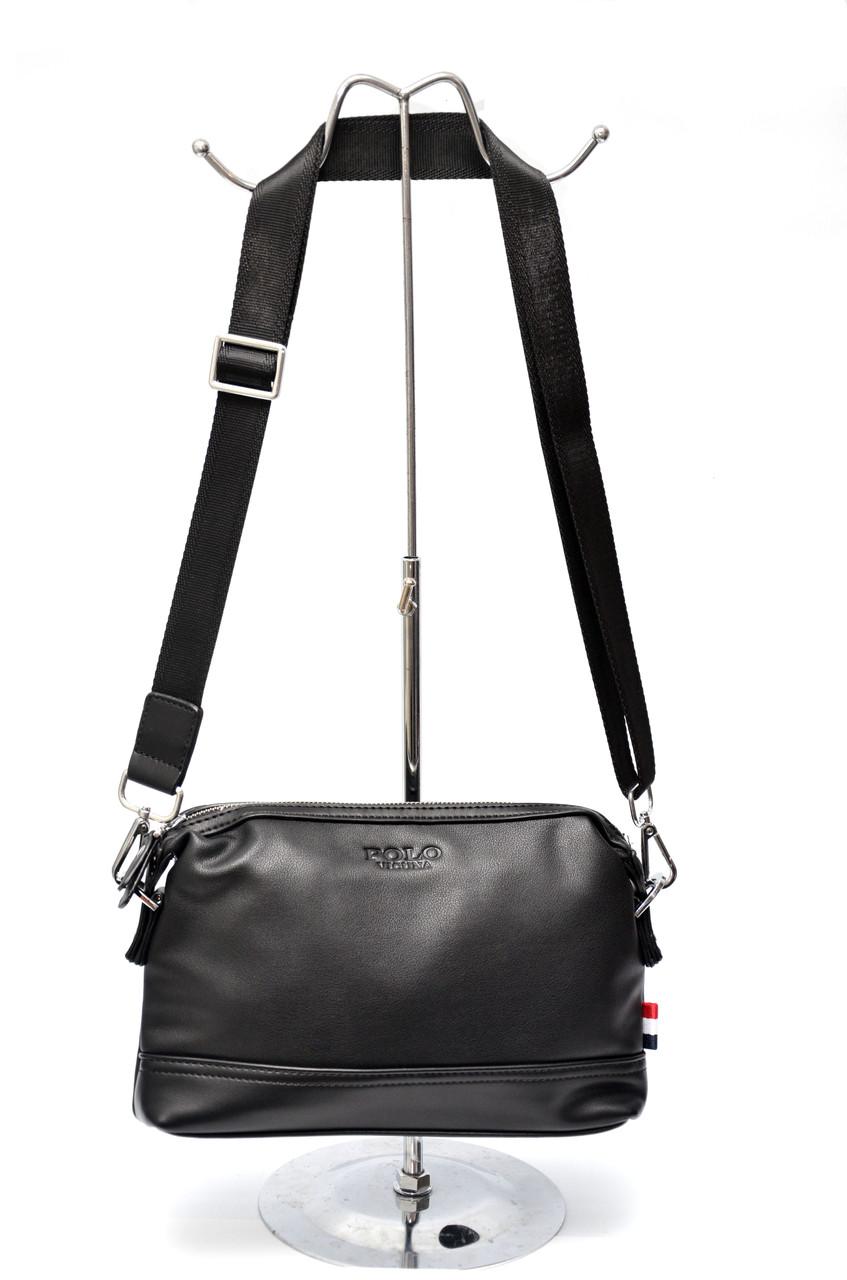 Мужская сумка мессенджер Polo Vicuna Черная (88451)