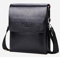 Мужская сумка мессенджер Polo Vicuna Черная (880811)
