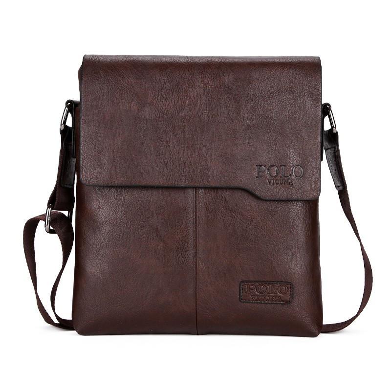 Мужская сумка мессенджер Polo Vicuna Коричневый (88112)