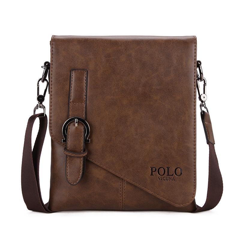 Мужская сумка POLO Vicuna Bag Коричневый (KD-60725)