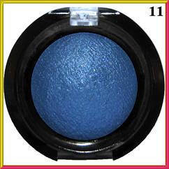 Тени для Век LDM Синие Запеченные Одинарные с Микроблеском Компактные Сет D тон 11 Декоративная Косметика