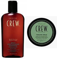 Набор American Crew: шампунь для ежедневного использования Daily (250 мл) + Крем формирующий Forming Cream (85 мл)