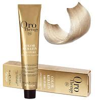 Безаммиачная крем-краска для волос Fanola Oro Therapy №10/0  Blonde platinum 100 мл